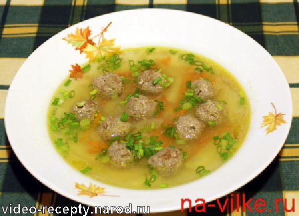 Суп из фрикаделек рецепт с вермишелью