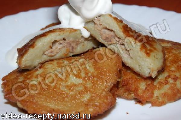 Драники картофельные с фаршем рецепт с фото.